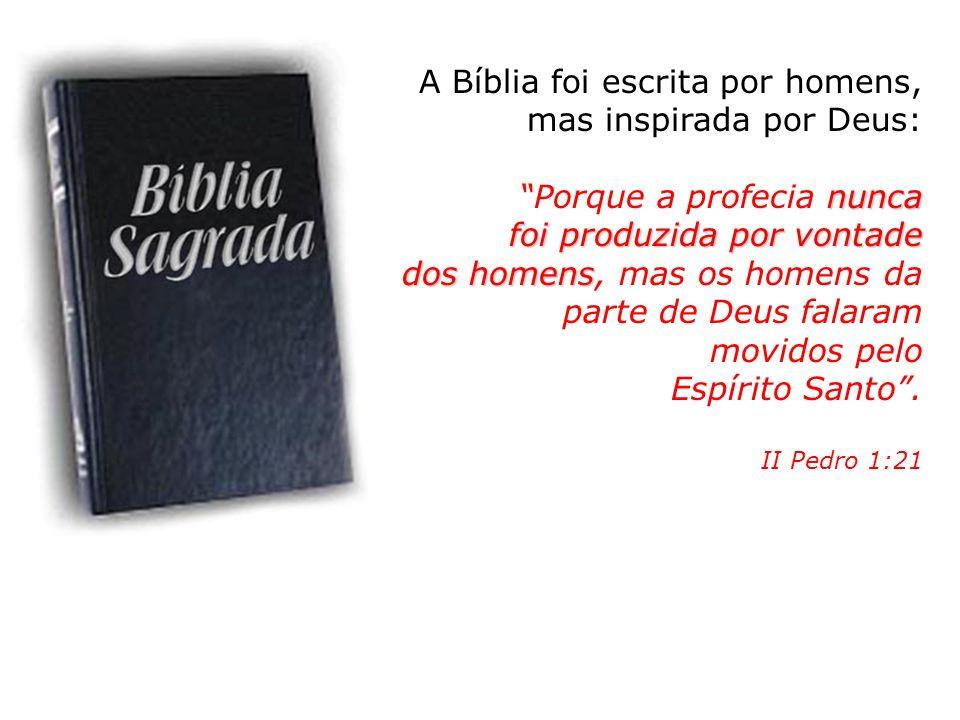A Bíblia foi escrita por homens, mas inspirada por Deus: