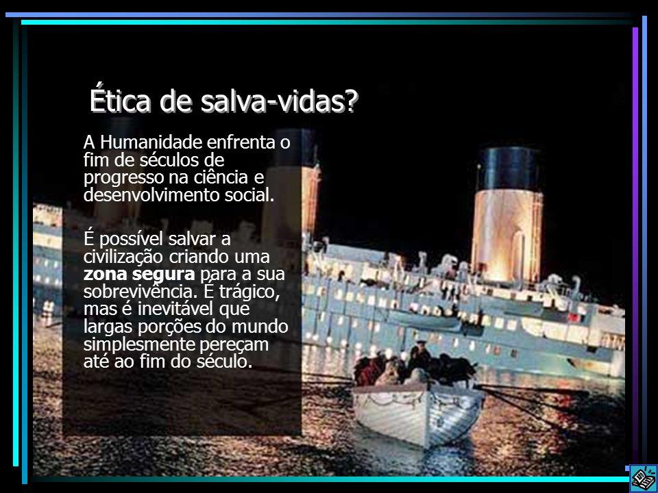 Ética de salva-vidas A Humanidade enfrenta o fim de séculos de progresso na ciência e desenvolvimento social.