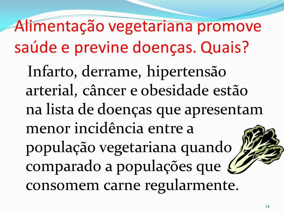 Alimentação vegetariana promove saúde e previne doenças. Quais