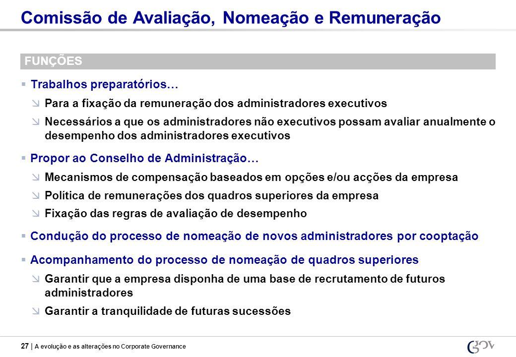 Comissão de Avaliação, Nomeação e Remuneração
