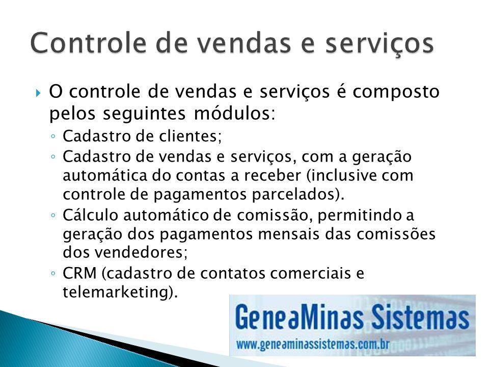Controle de vendas e serviços