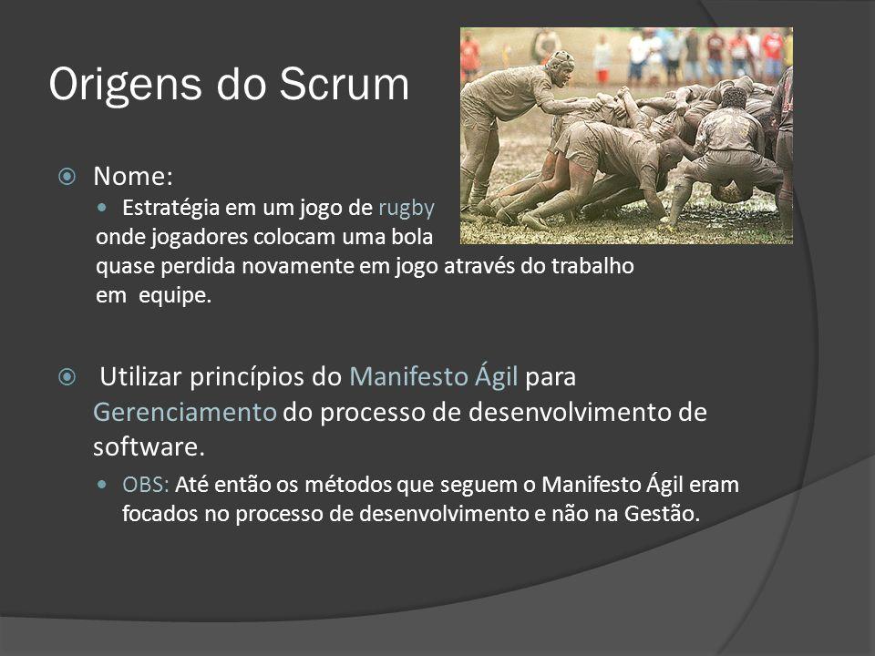 Origens do Scrum Nome: Estratégia em um jogo de rugby. onde jogadores colocam uma bola. quase perdida novamente em jogo através do trabalho.