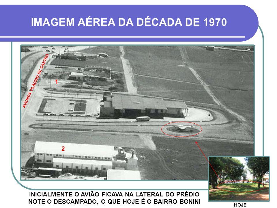 IMAGEM AÉREA DA DÉCADA DE 1970 AVENIDA PLÁCIDO DE CASTRO