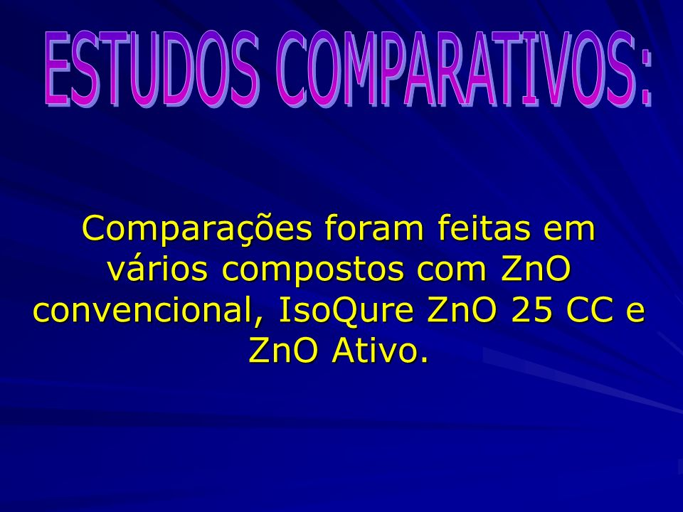 ESTUDOS COMPARATIVOS: