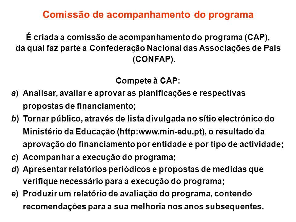 Comissão de acompanhamento do programa