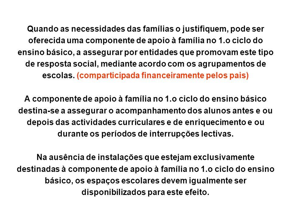 A componente de apoio à família no 1.o ciclo do ensino básico