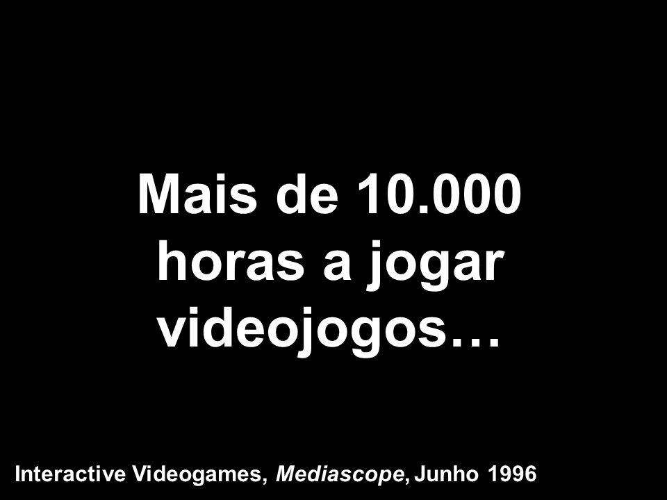Mais de 10.000 horas a jogar videojogos…