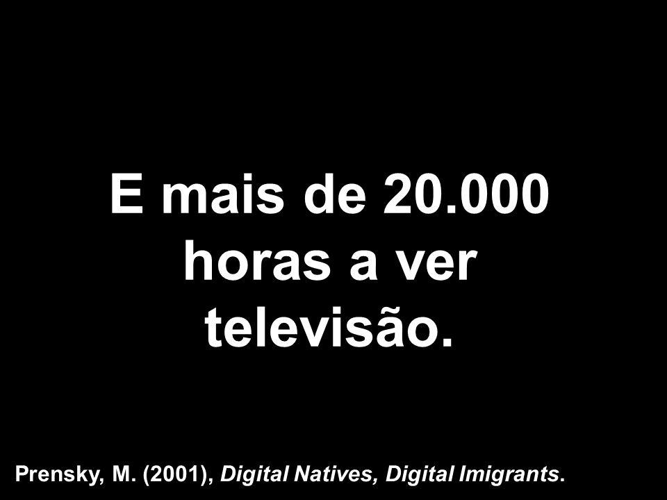 E mais de 20.000 horas a ver televisão.