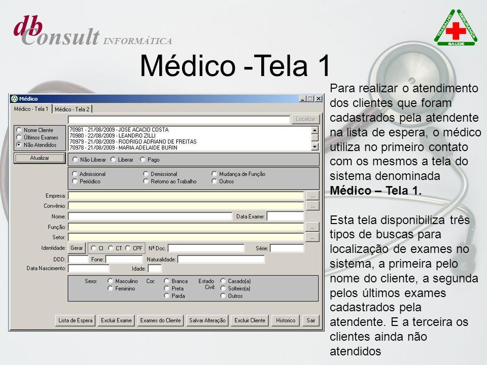db Médico -Tela 1 Consult