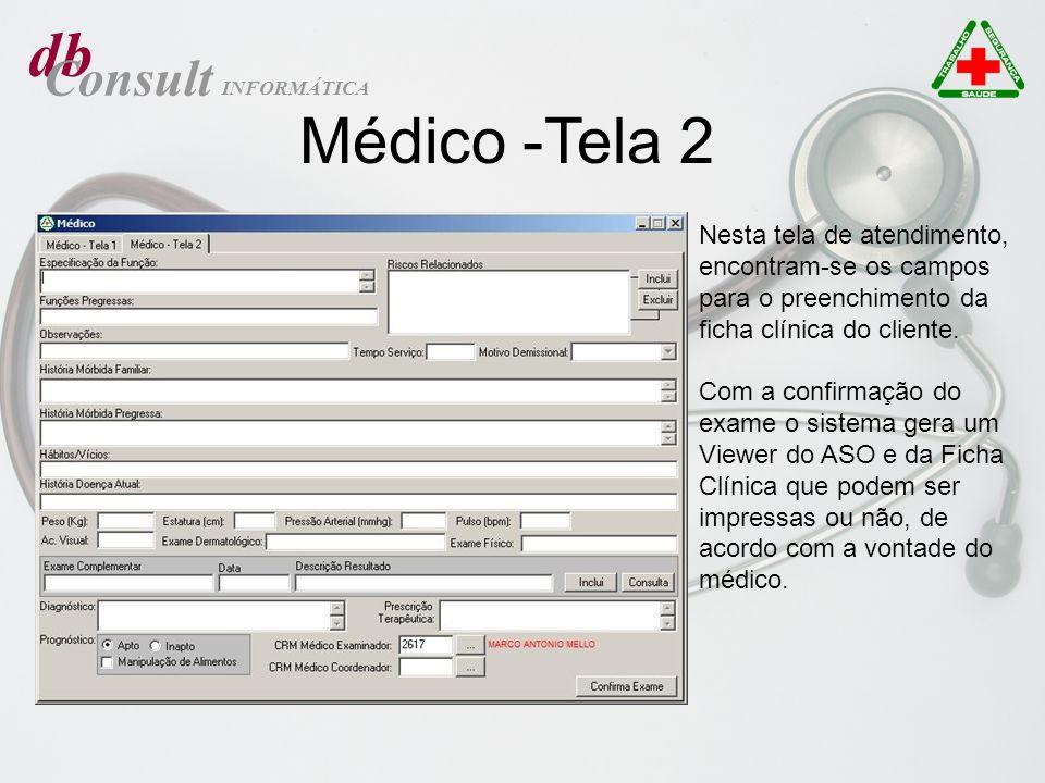 db Médico -Tela 2 Consult