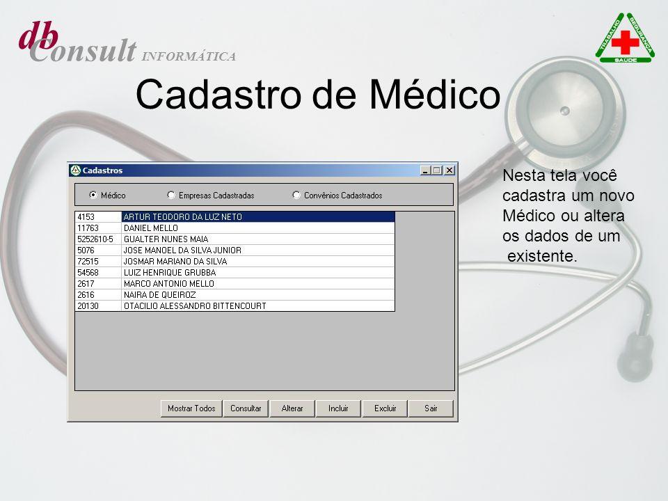 db Cadastro de Médico Consult