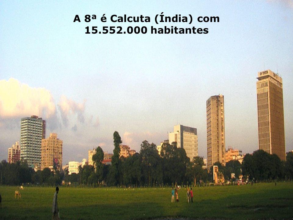 A 8ª é Calcuta (Índia) com