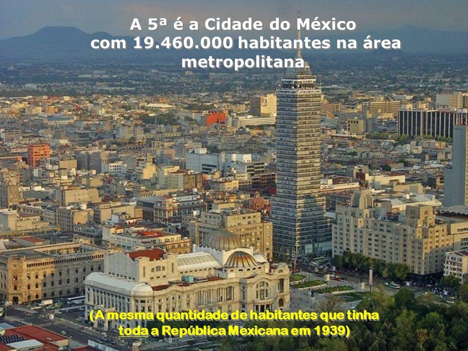 com 19.460.000 habitantes na área metropolitana