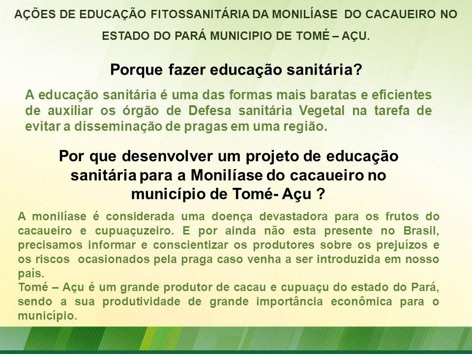 Porque fazer educação sanitária