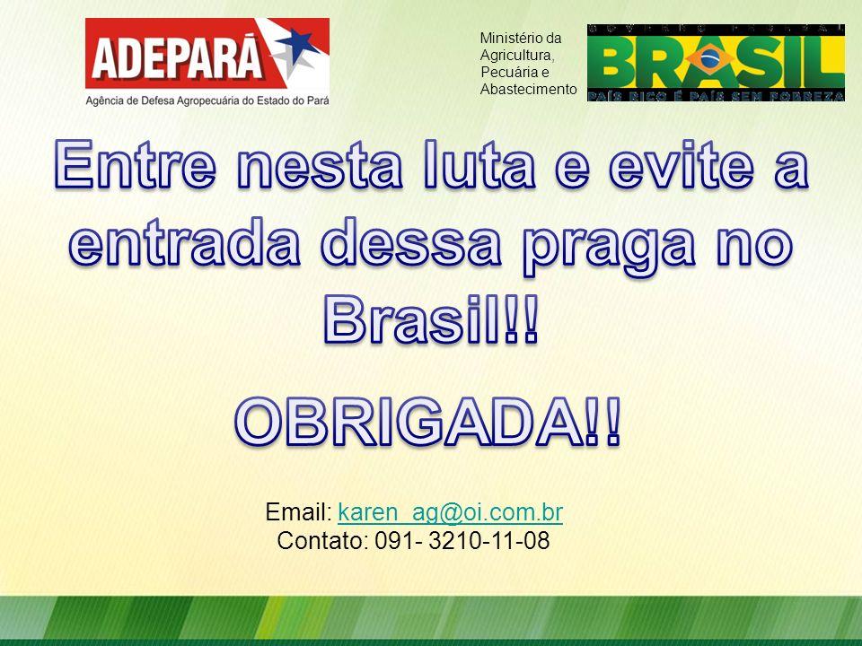 Entre nesta luta e evite a entrada dessa praga no Brasil!!