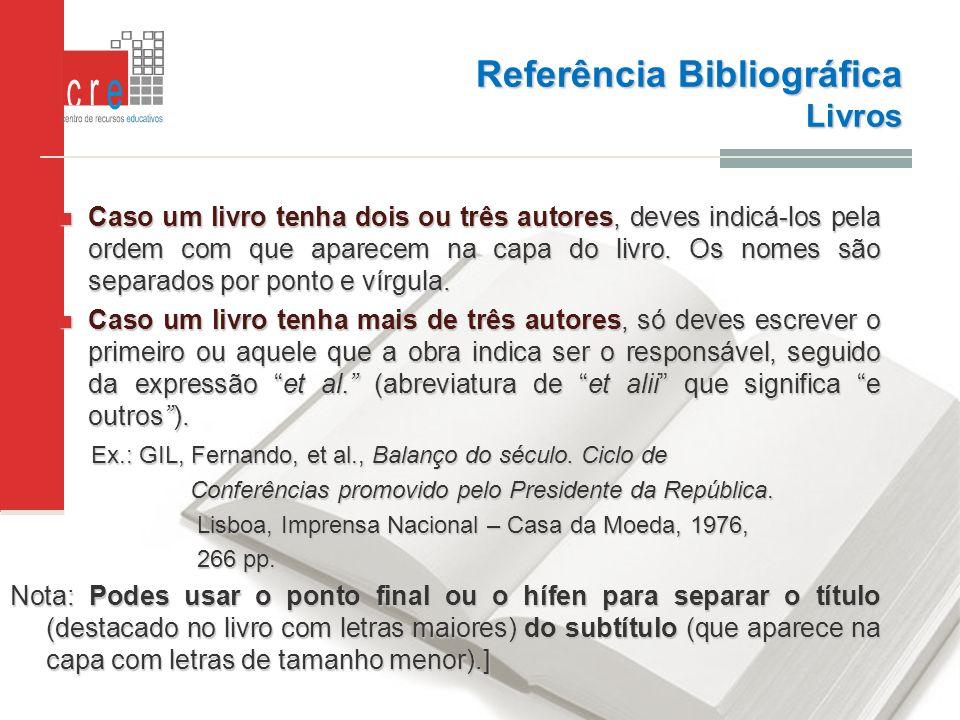 Referência Bibliográfica Livros