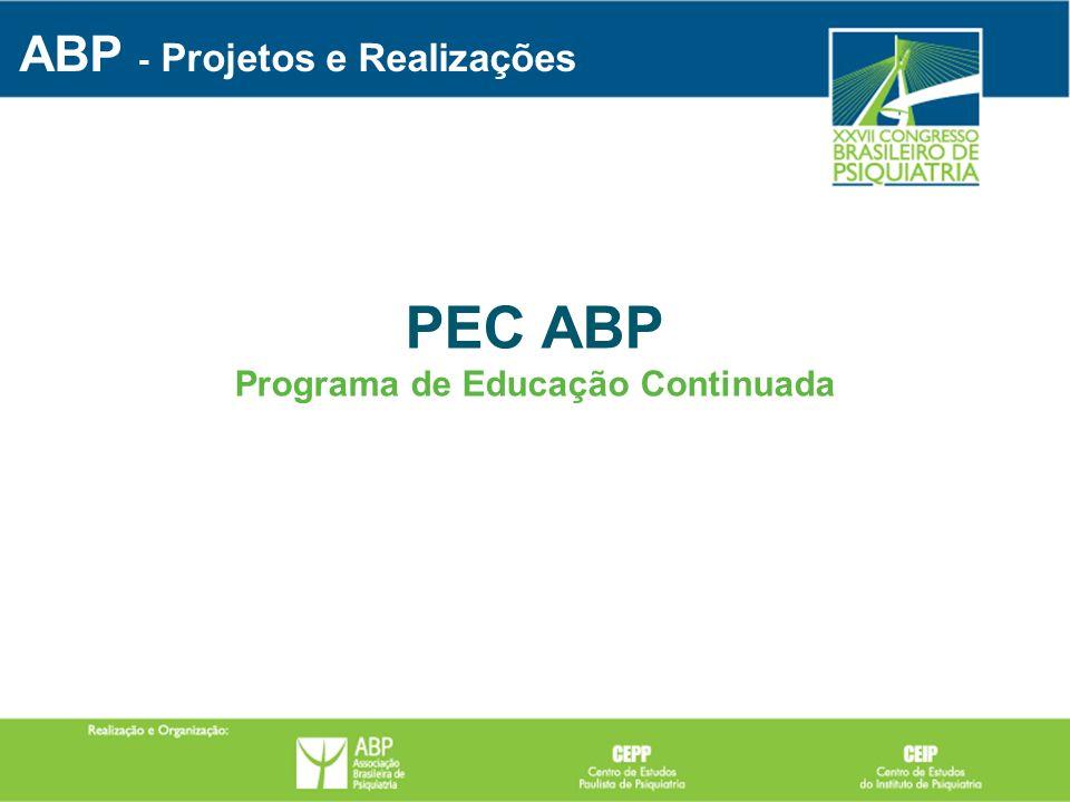 PEC ABP Programa de Educação Continuada