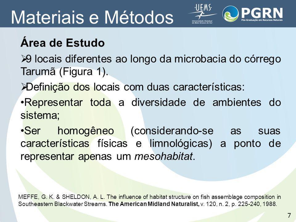Materiais e Métodos Área de Estudo
