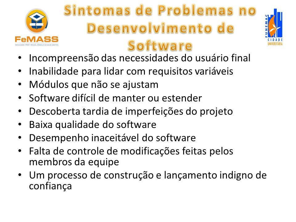 Sintomas de Problemas no Desenvolvimento de Software