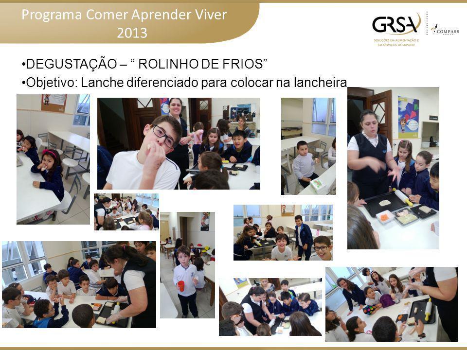 Programa Comer Aprender Viver 2013