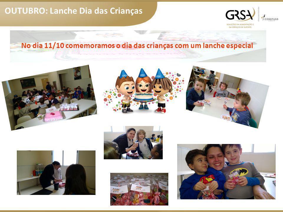 No dia 11/10 comemoramos o dia das crianças com um lanche especial