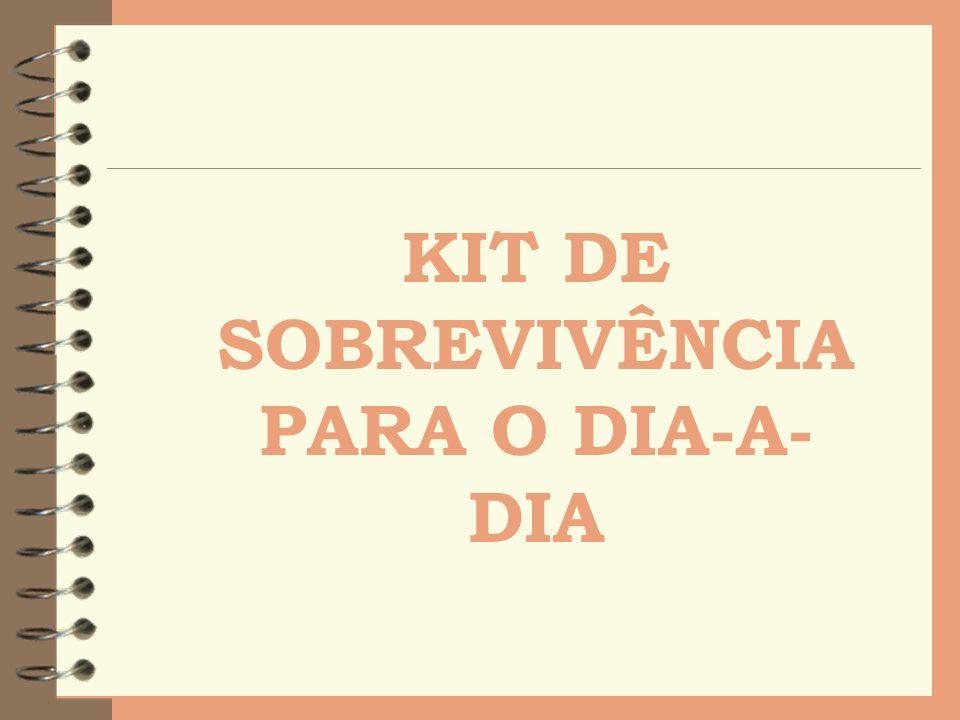 KIT DE SOBREVIVÊNCIA PARA O DIA-A-DIA