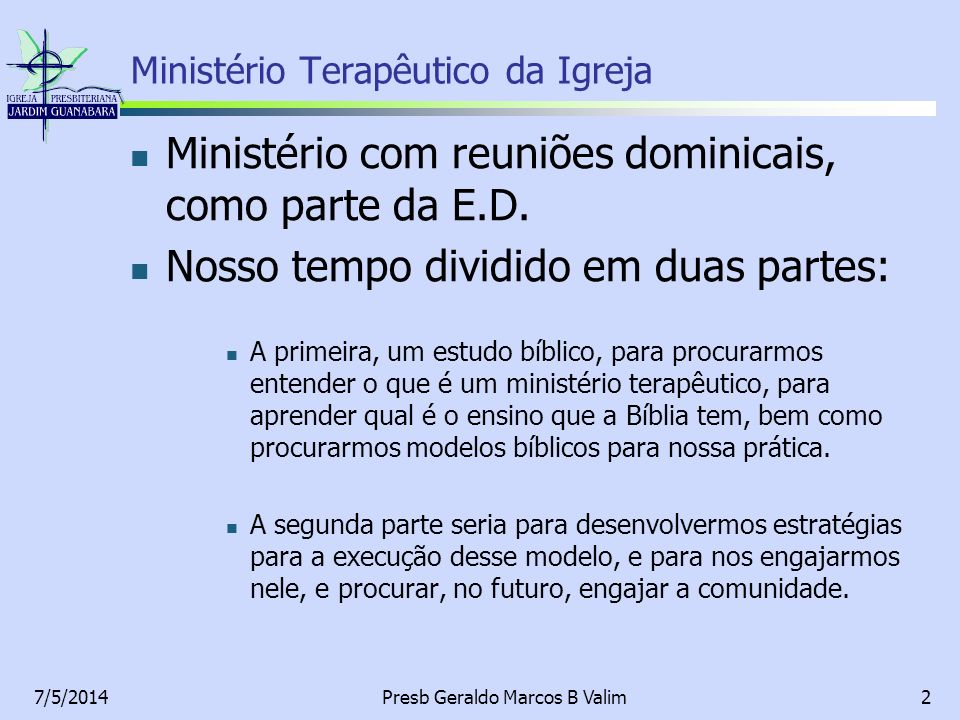 Ministério Terapêutico da Igreja