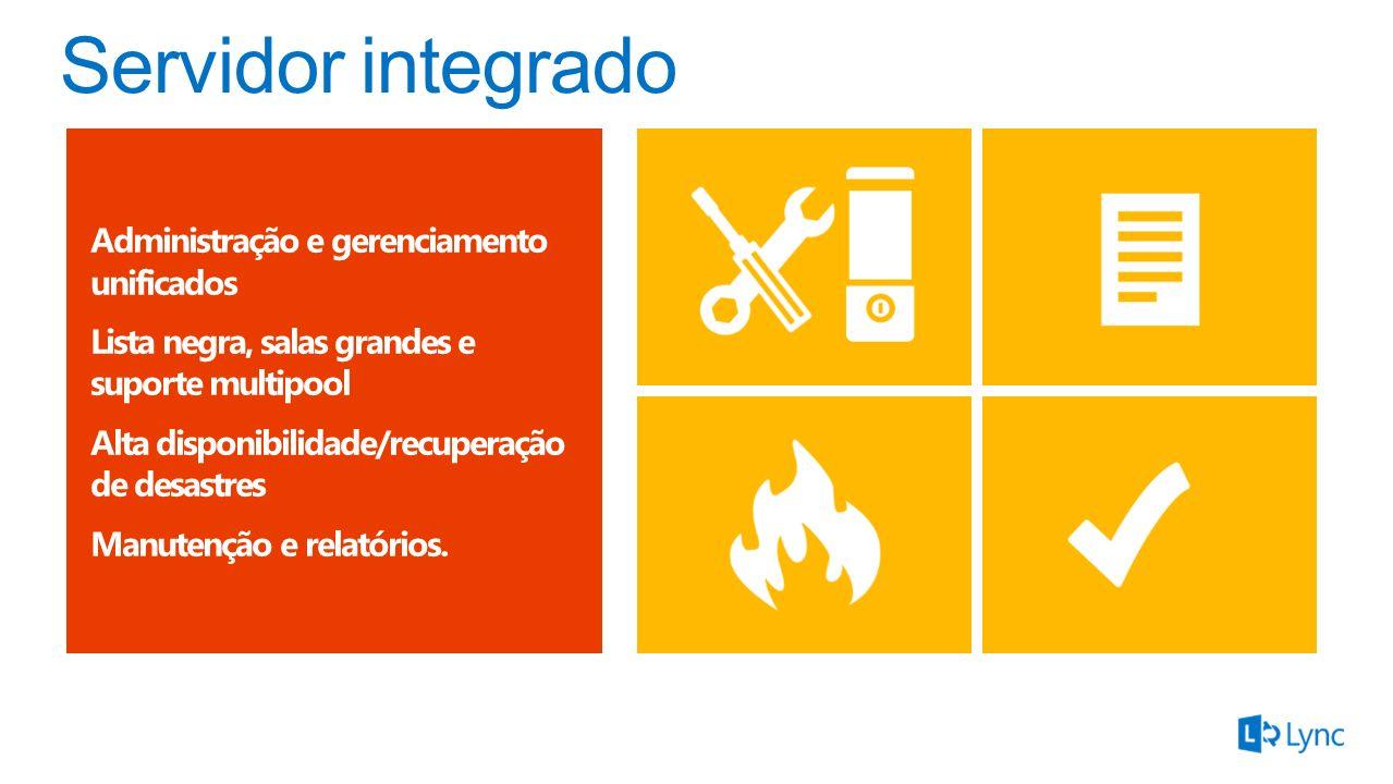 Servidor integrado Administração e gerenciamento unificados