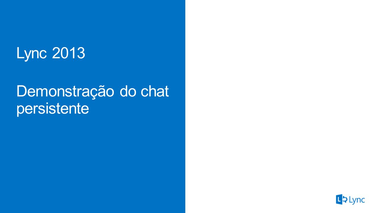Demonstração do chat persistente