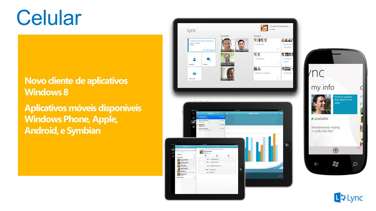 Celular Novo cliente de aplicativos Windows 8