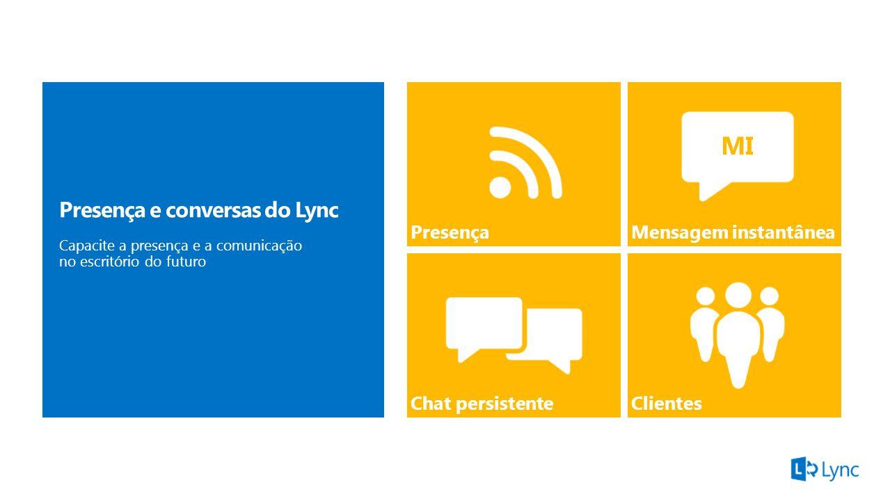 MI Presença e conversas do Lync Presença e conversas do Lync Presença