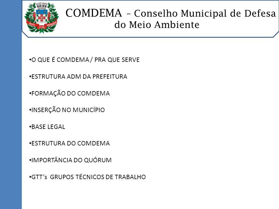 COMDEMA – Conselho Municipal de Defesa do Meio Ambiente