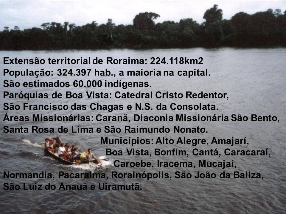 Extensão territorial de Roraima: 224.118km2