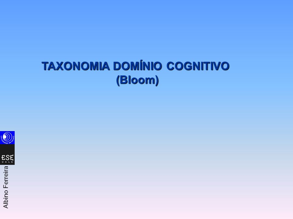 TAXONOMIA DOMÍNIO COGNITIVO