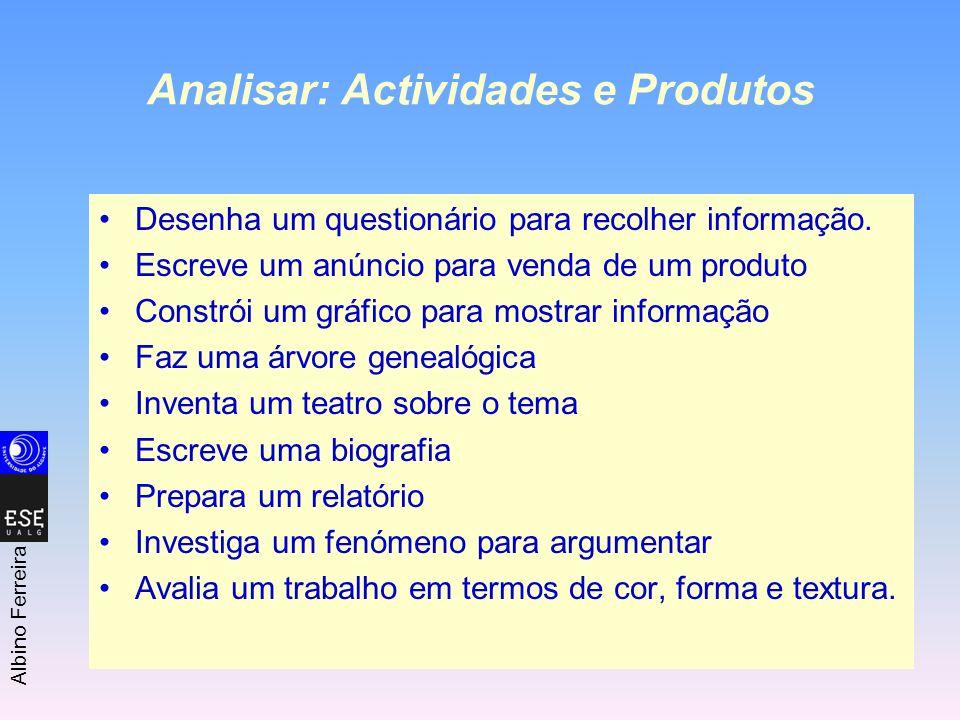 Analisar: Actividades e Produtos