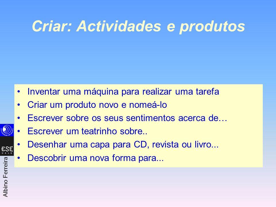 Criar: Actividades e produtos