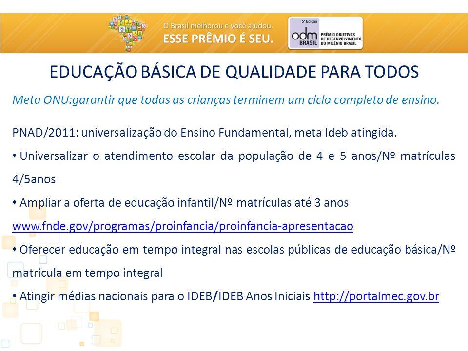 EDUCAÇÃO BÁSICA DE QUALIDADE PARA TODOS