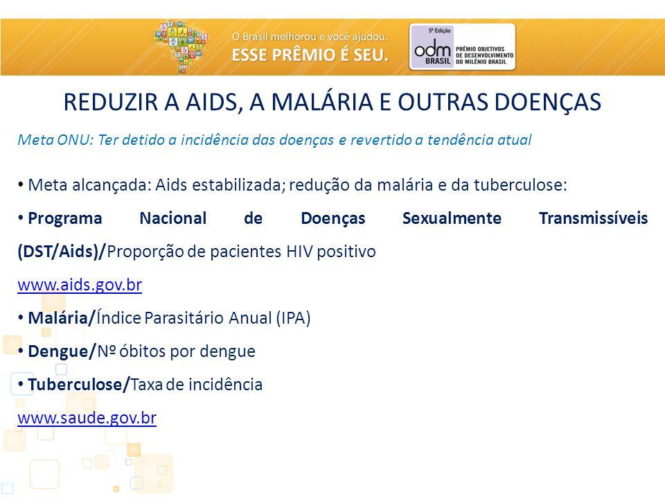 REDUZIR A AIDS, A MALÁRIA E OUTRAS DOENÇAS