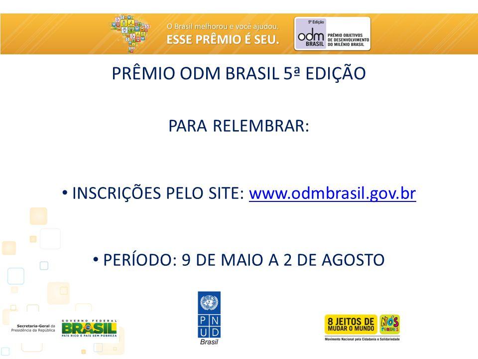 PRÊMIO ODM BRASIL 5ª EDIÇÃO