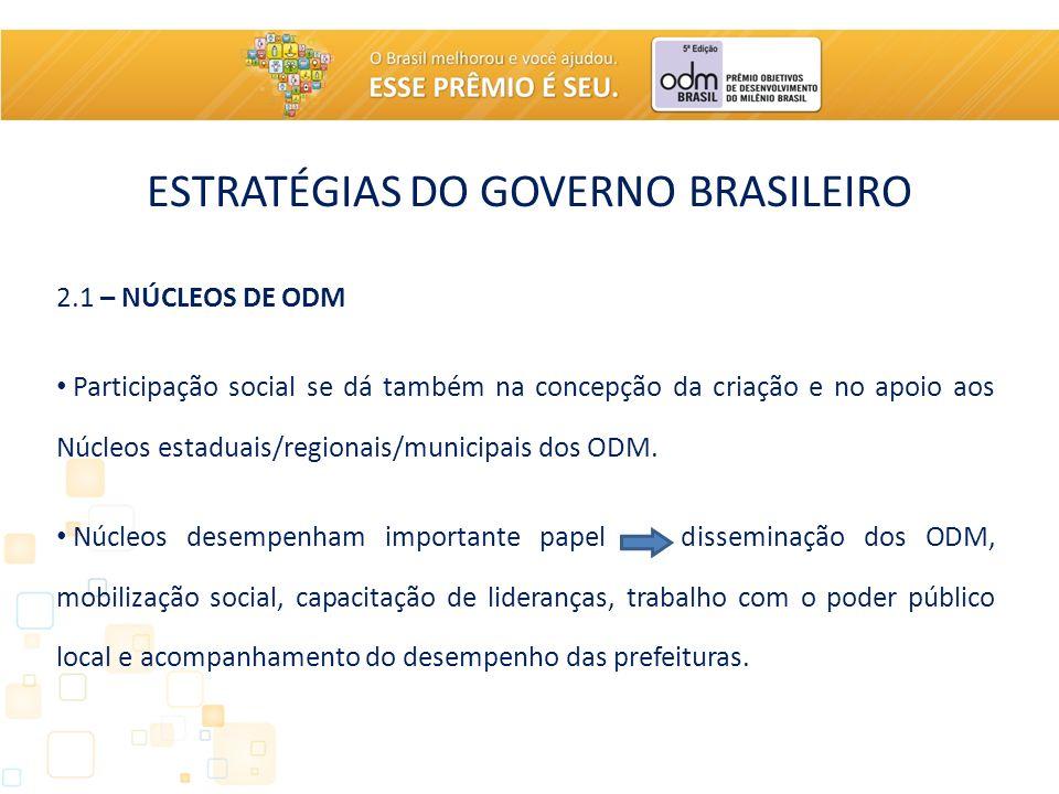 ESTRATÉGIAS DO GOVERNO BRASILEIRO