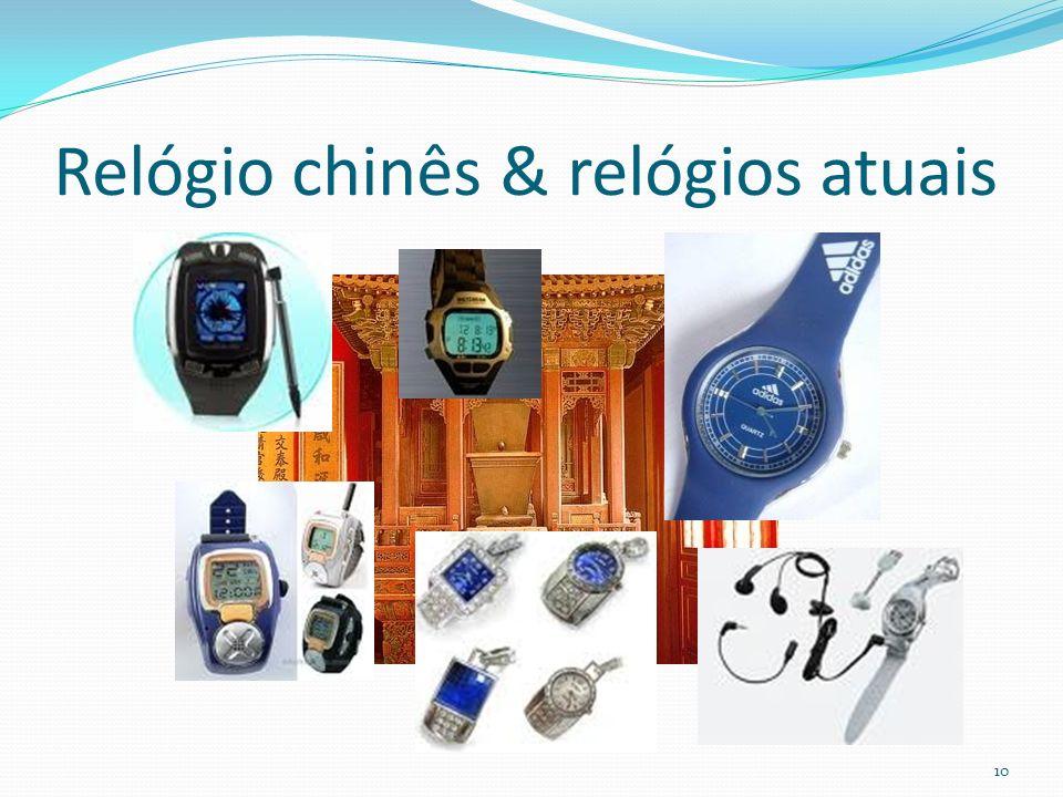 Relógio chinês & relógios atuais