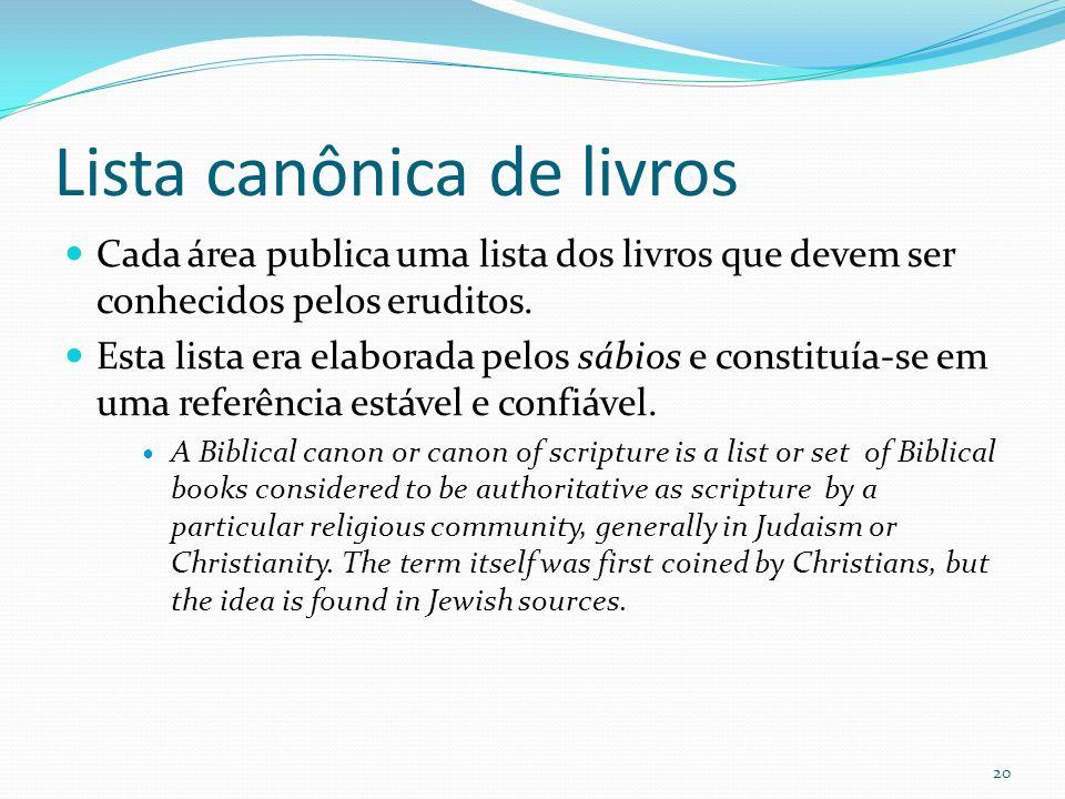 Lista canônica de livros