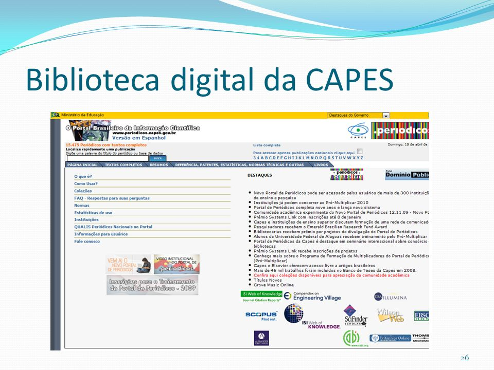 Biblioteca digital da CAPES