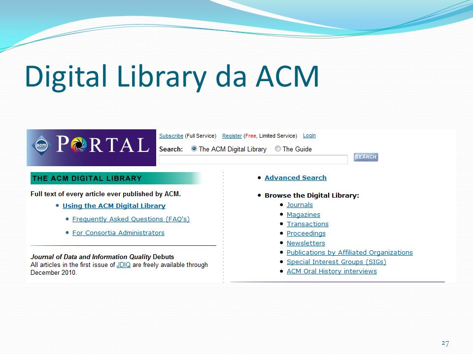 Digital Library da ACM