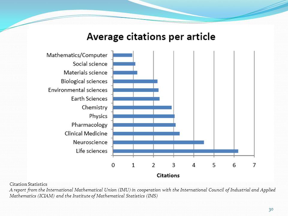 Citation Statistics