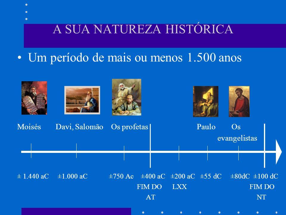 A SUA NATUREZA HISTÓRICA