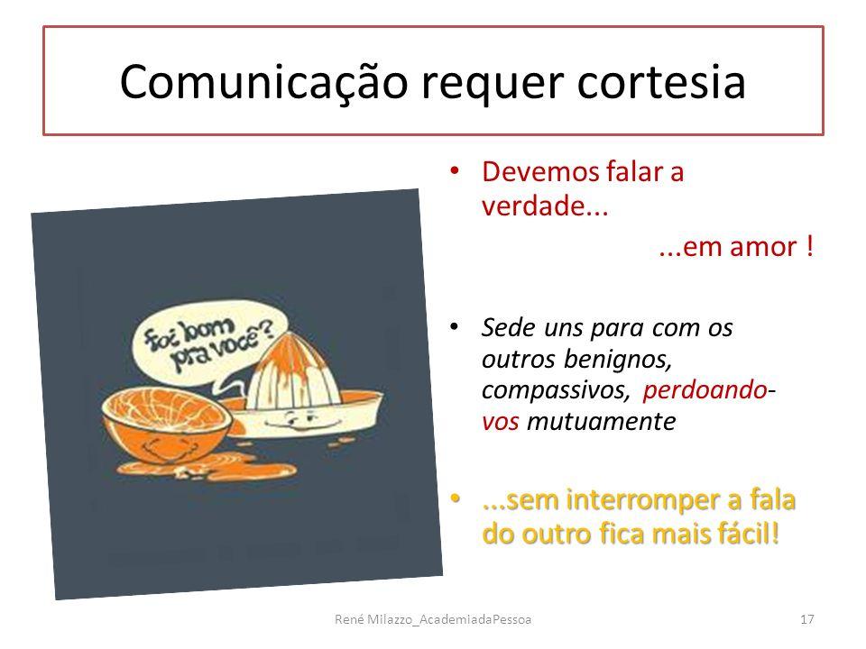 Comunicação requer cortesia