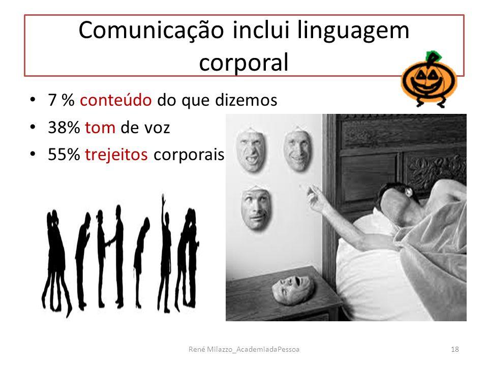 Comunicação inclui linguagem corporal