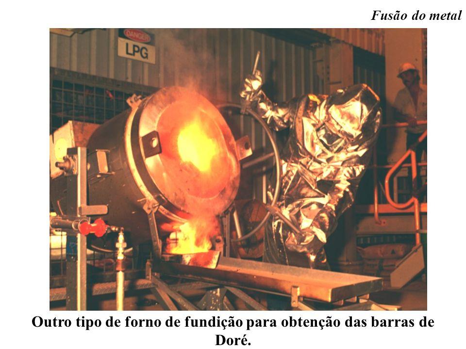 Outro tipo de forno de fundição para obtenção das barras de Doré.