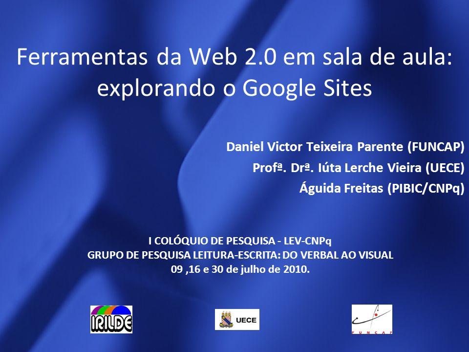 Ferramentas da Web 2.0 em sala de aula: explorando o Google Sites